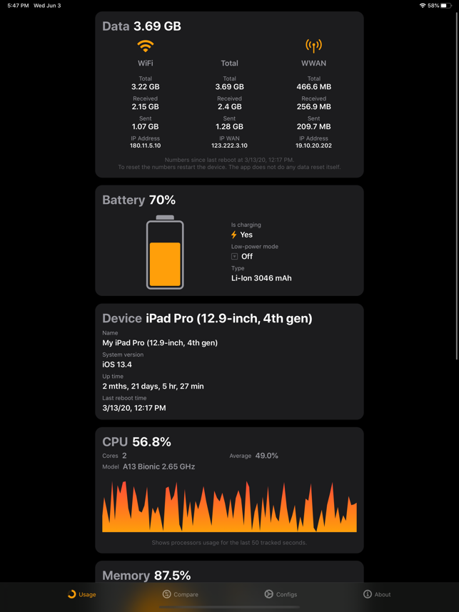 ‎Usage: System Activity & Info Screenshot
