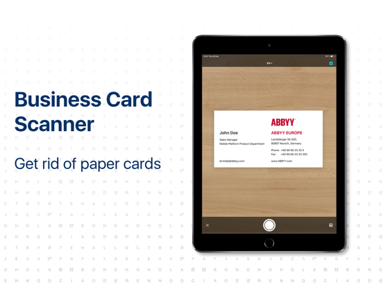 Business Card Reader. BCR Pro Screenshots