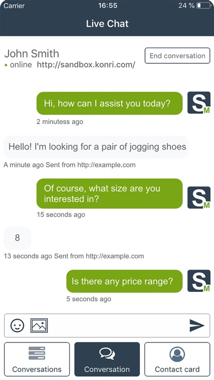 SALESmanago Live Chat