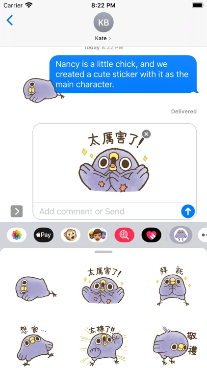 Stickers for Chick Nancy