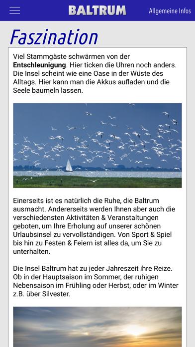 Baltrum App Screenshot