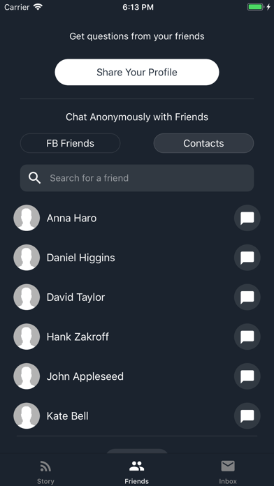 Screenshot of Profoundly: Anonymous Chats App