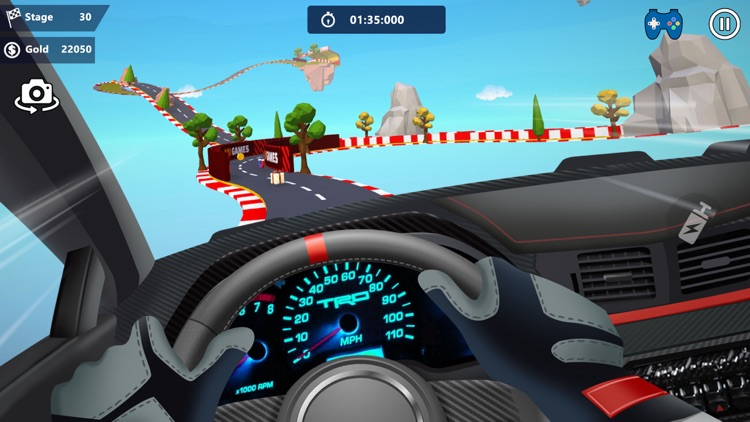 Car Stunts 3D - Sky Parkour screenshot-5