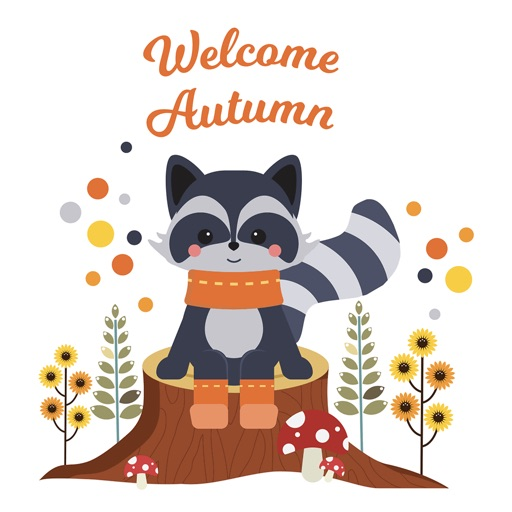Autumn - Greetings with Animal