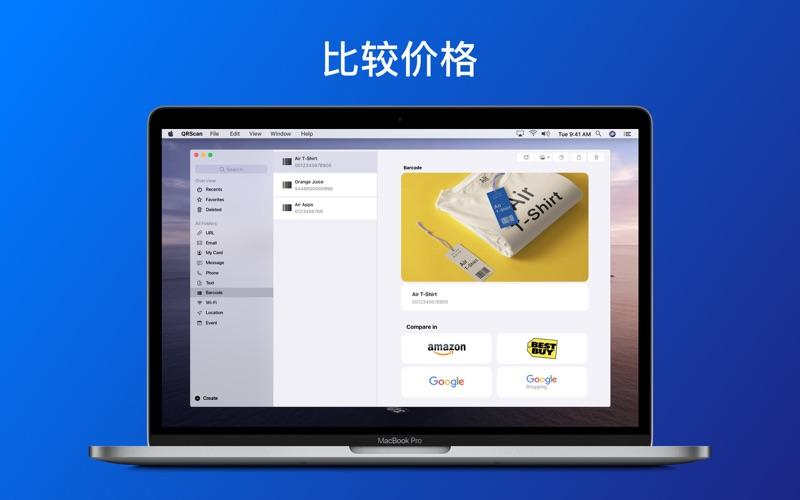 QR码和条码阅读器 - QrScan for Mac
