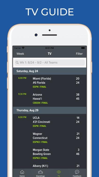Oklahoma Football Schedules screenshot-6