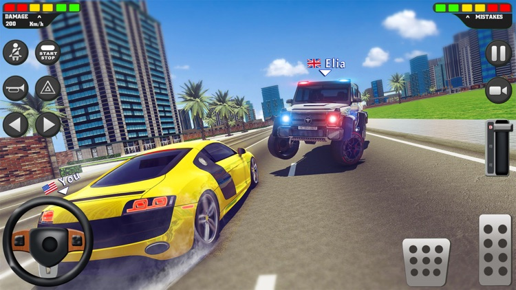 City Car Driving School Sim 3D screenshot-6