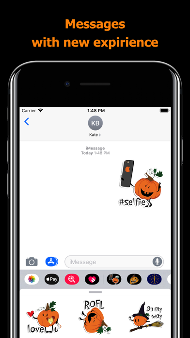 Halloween stickers - pumpkin screenshot 3