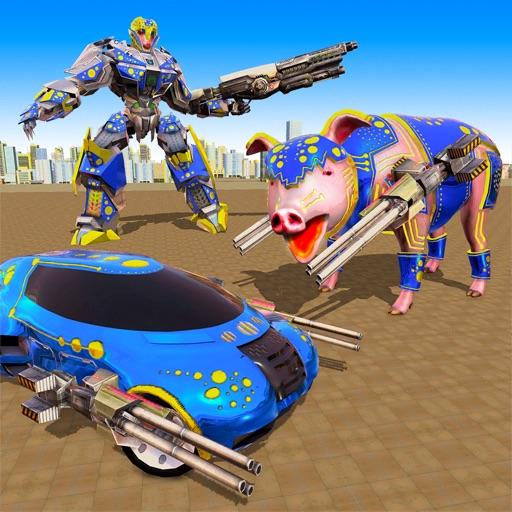 Pig Robot Transform Shooting