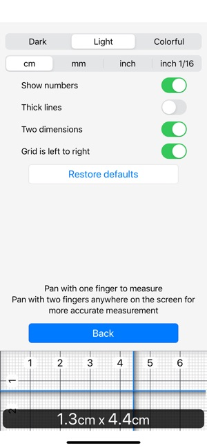 Ruler 2 0 Inch Mm Cm On The App Store
