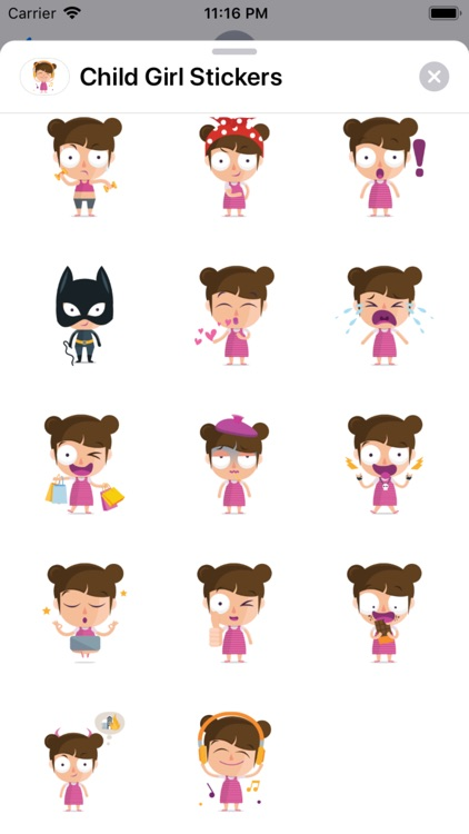 Child Girl Stickers