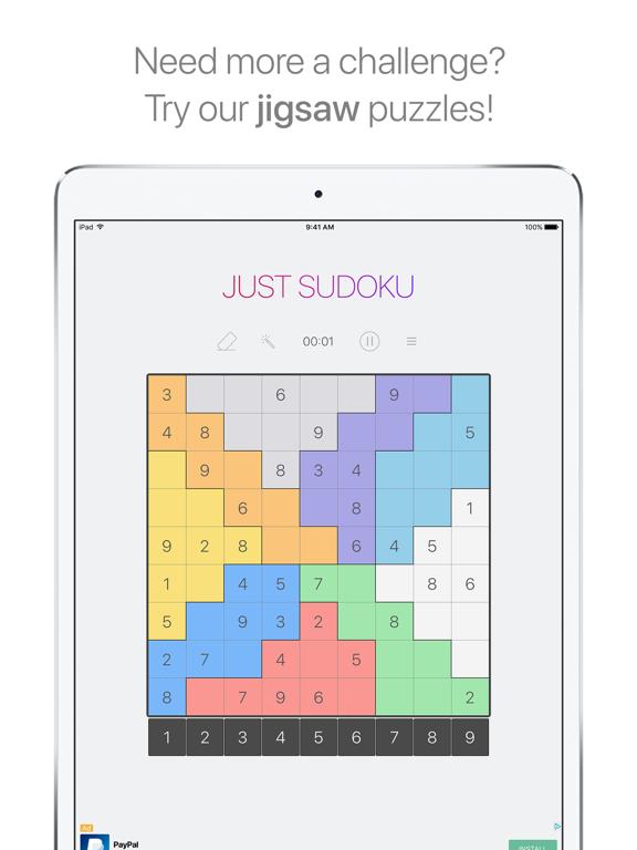 Just Sudoku - free to play puzzles screenshot