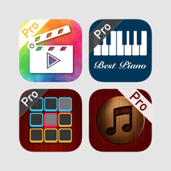 ‎4 in 1 Best Slideshow Maker & Video Editor & Professional Piano & Drum  Beats Maker