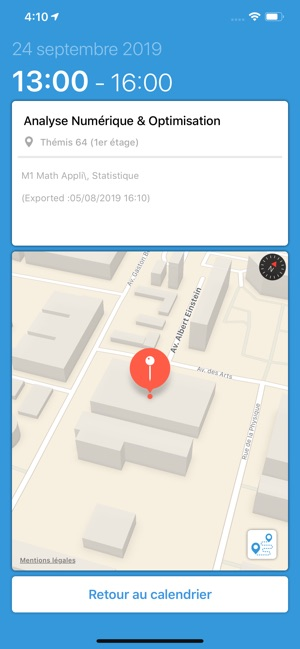 Calendrier Univ Nantes.Edt Univ Dans L App Store