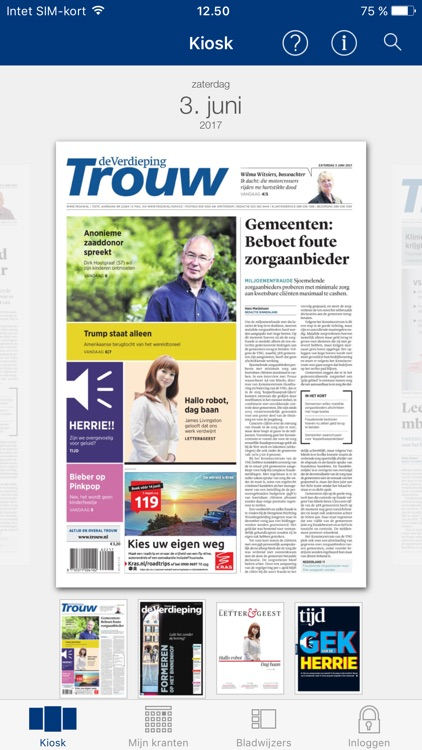 Trouw digitale krant