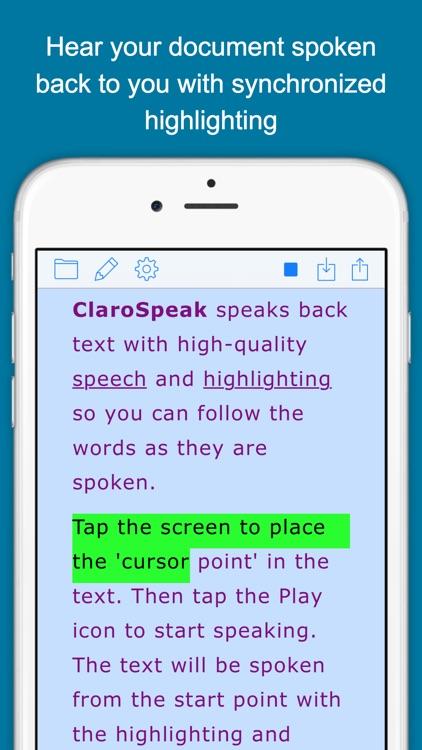 ClaroSpeak - Literacy Support