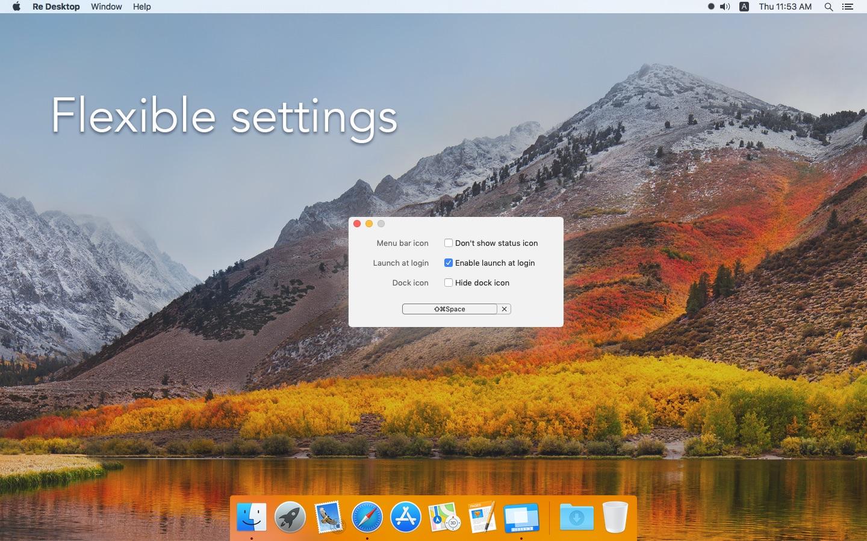 Screenshot do app Re Desktop