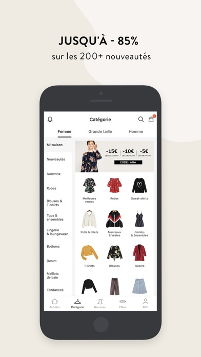 Screenshot for SHEIN-Vente Privee Mode Femme in France App Store
