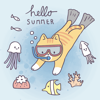 Sunhee Choi - Summer & Vacation Cute Sticker  artwork