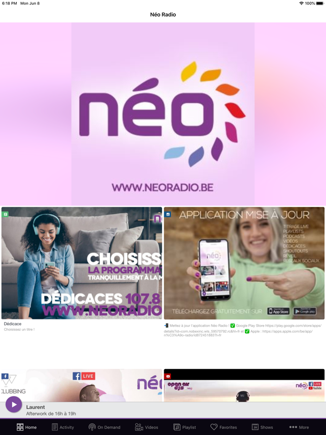 ‎Néo Radio Capture d'écran