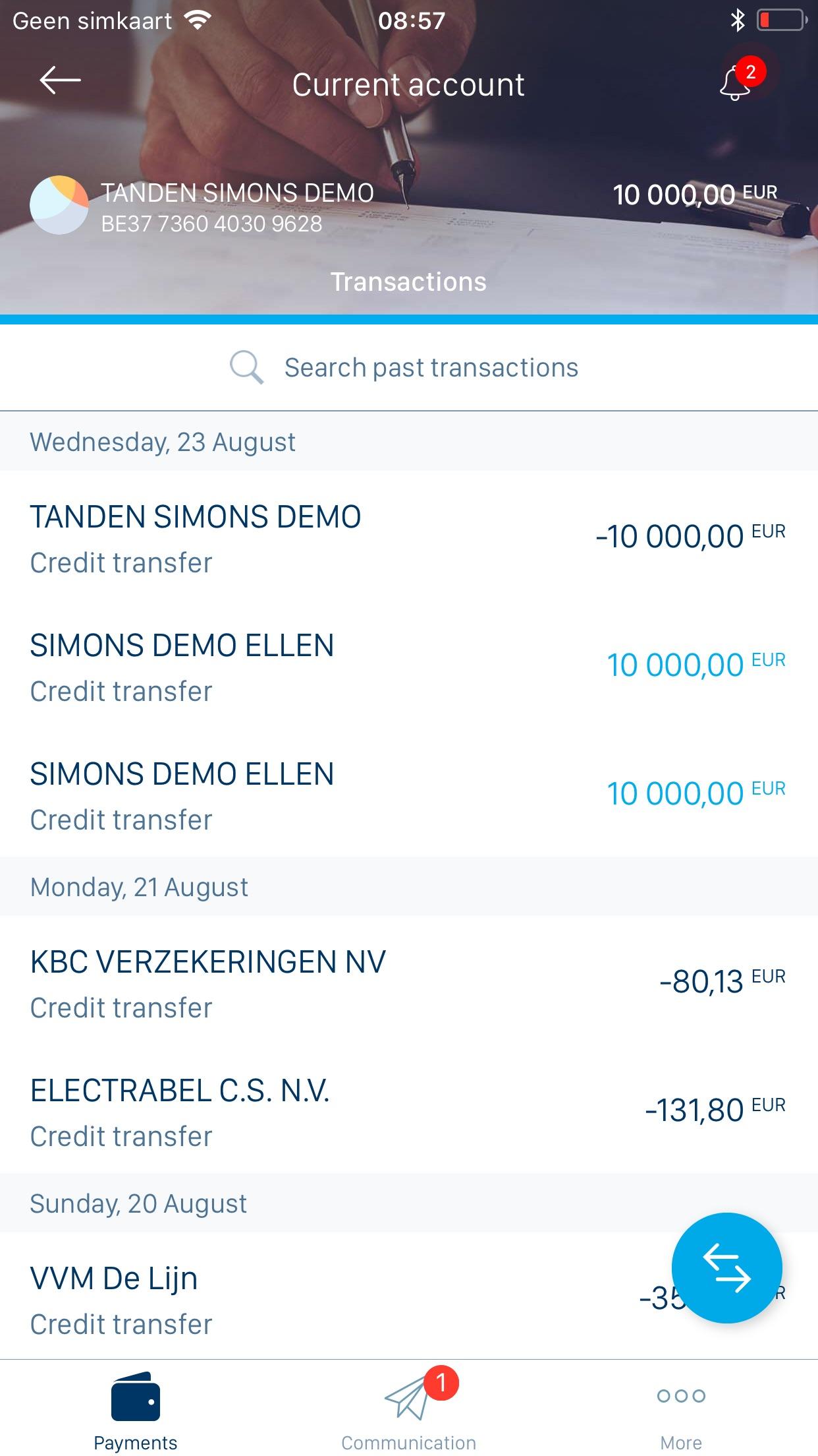 KBC Business Screenshot