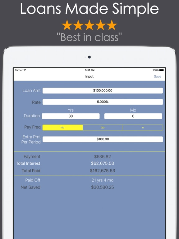 Loan Calculator - Mortgage Car-ipad-1