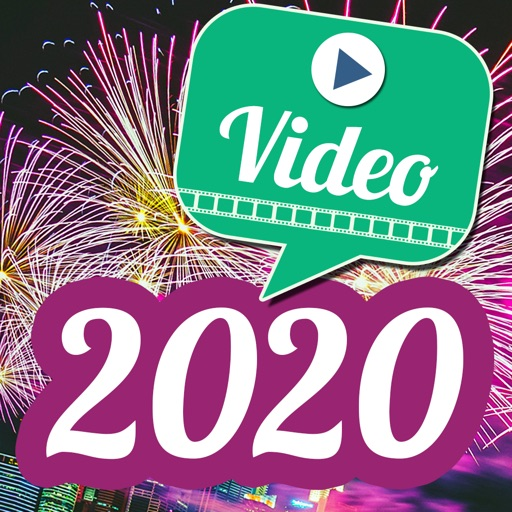 Video Greetings 2020 New Year icon