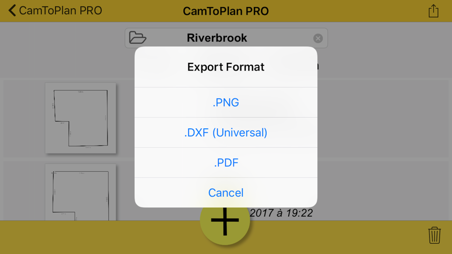 CamToPlan PRO App 截图
