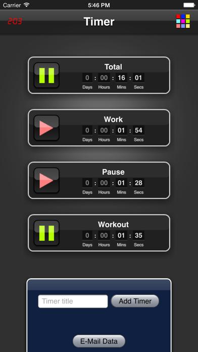 Timer App screenshot one