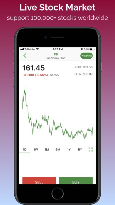 Stock Market Simulator Screenshot