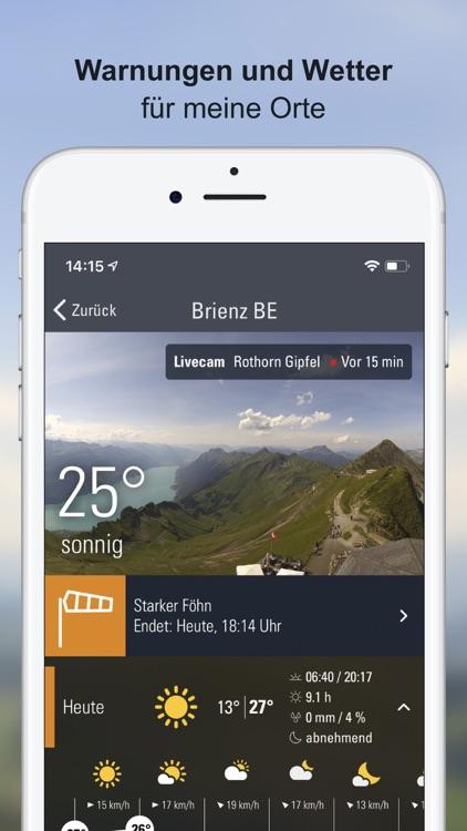 Wettervorhersagen Schweiz screenshot-0