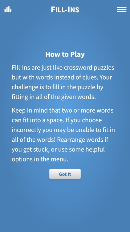 Fill Ins · Word Fit Puzzle screenshot-4