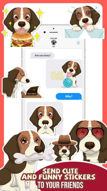 Beagle Dog Emojis Stickers App screenshot-3