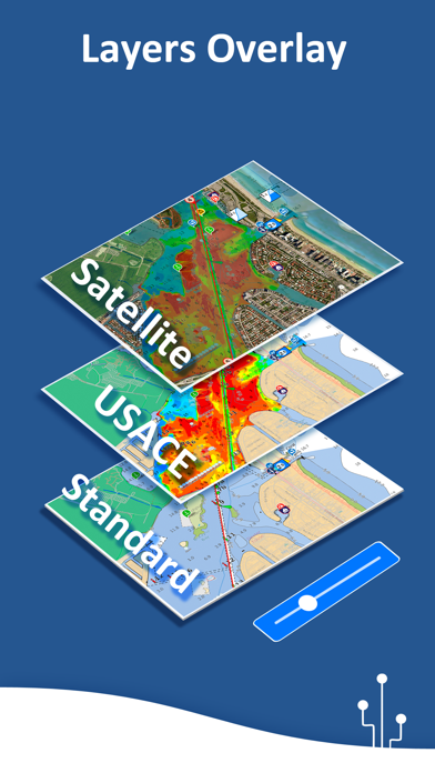 Aqua Map: Marine & Lake charts Screenshot