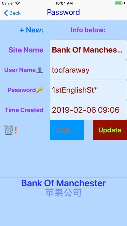 Numbers Hub Personal Info Keep