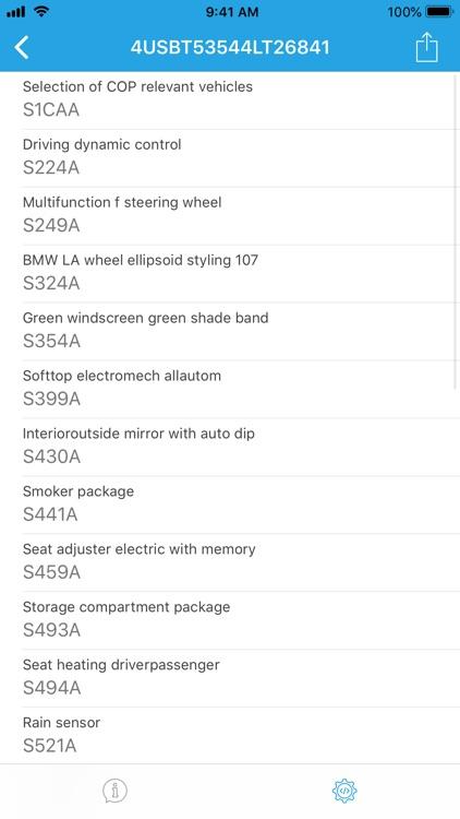 VIN decoder for BMW