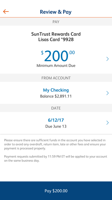 Screenshot for SunTrust Mobile App in United States App Store