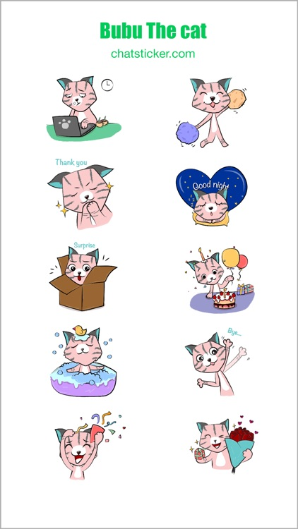 Bubu The Cat Stickers screenshot-4