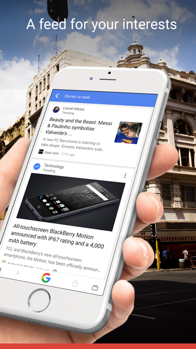 Google: Search, Discover, News Screenshot on iOS