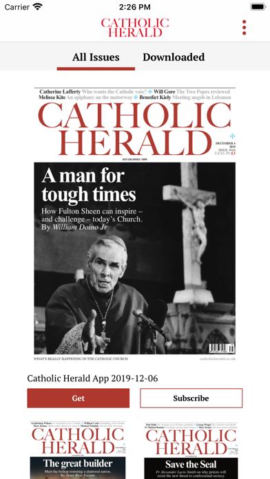 Catholic Herald Magazine screenshot one