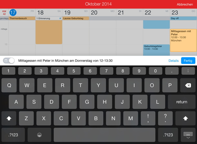 ‎Fantastical 2 für iPad Screenshot