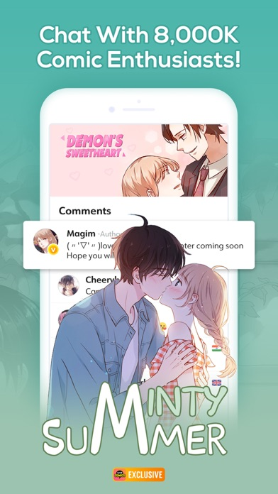 Screenshot for WebComics - Daily Manga in Thailand App Store