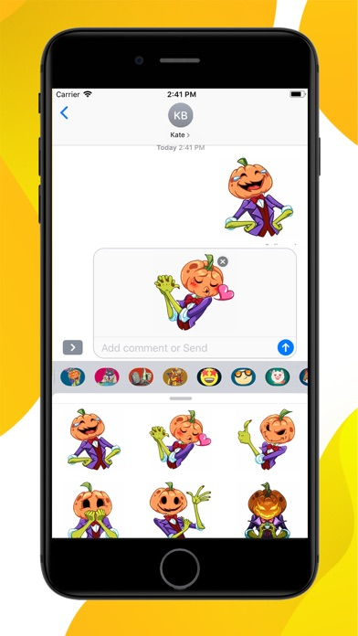 Screenshot for Pumpkin Halloween Stickers in United States App Store
