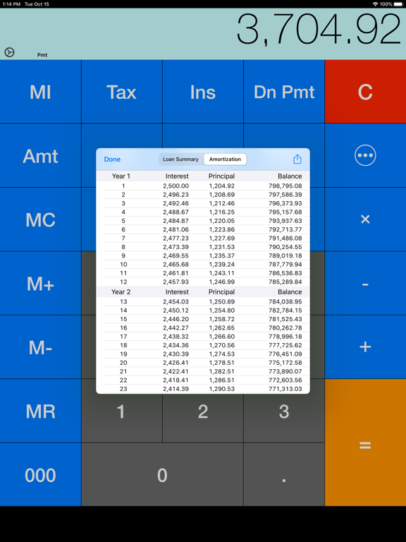 RECalc Free - Real Estate Mortgage Loan Calculator screenshot