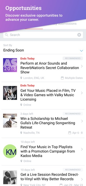 ReverbNation for Artists on the App Store