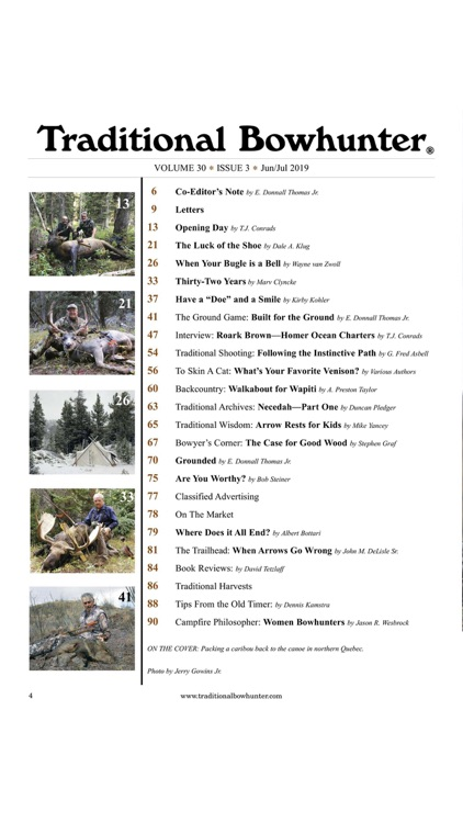 Traditional Bowhunter Magazine