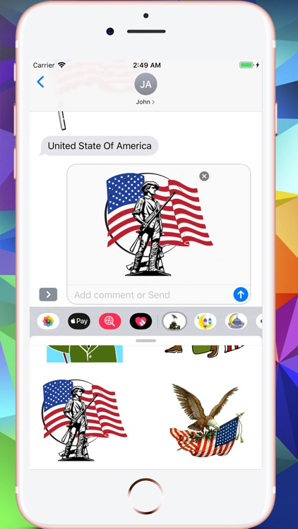 Memorial Day HD Stickers screenshot-7