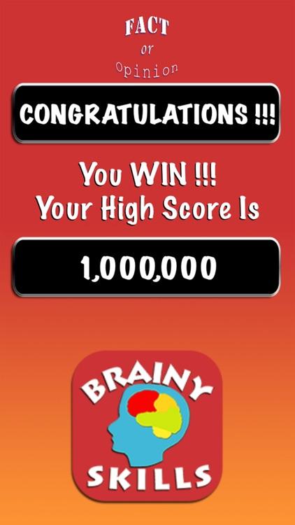 Brainy Skills Fact or Opinion screenshot-7