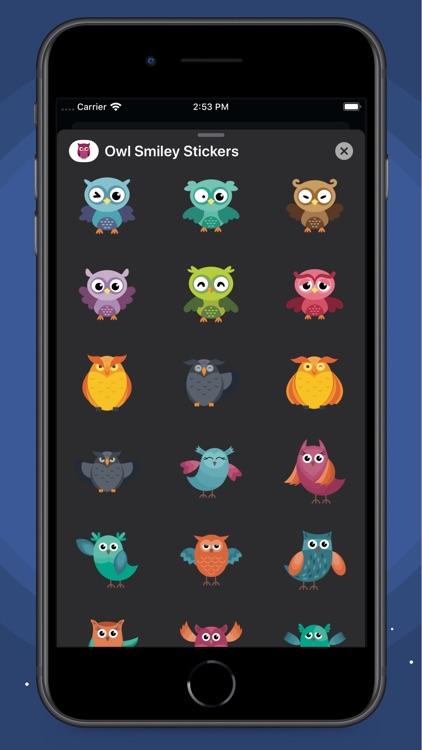 Owl Smiley Stickers screenshot-5