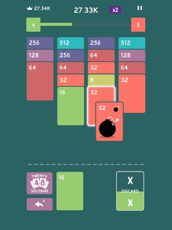 Twenty48 Solitaire screenshot